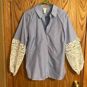 Chicos blouse with embellished sleeves